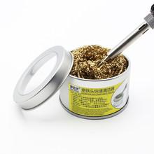 Akcesoria kuchenne lutownica końcówka czyszcząca z drut mosiężny gąbka bez wody potrzebne akcesoria do dekoracji wnętrz tanie tanio as shown