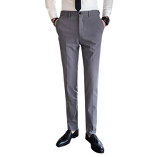 Suit trousers Spring new gentleman solid color British style fashion Slim business casual mens suit large size S-4XL