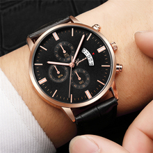 Relogio Masculino Mens Watches Top Brand Luxury Men's Quartz Leather Wrist Watch Fashion Male CLock erkek kol saati reloj hombre fashion erkek saat quartz watch bayan kol saati fashion casual leather three movements mens watches top brand luxury relogio box