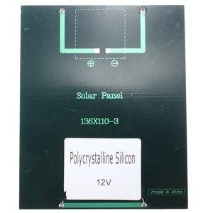 Image 5 - CLAITE 12V 2W 160mA 다결정 실리콘 미니 태양 전지 패널 모듈 셀 충전기 DC 배터리 DIY 136x110mm 품질 도매