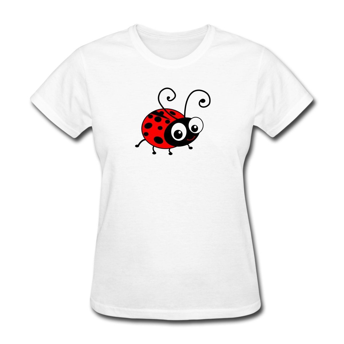 a426f338e Cute Ladybug Women's T-Shirt Female T Shirt Kawaii Hip Hop Brand Women  Flash Summer