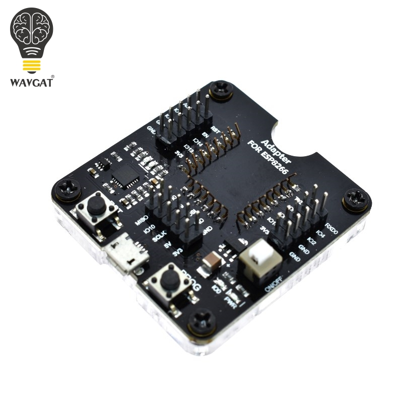 WAVGAT ESP8266 Test Board Burn Fixture Support Module ESP-12E ESP-12F ESP-07 Integrated Circuits Internet of ThingsWAVGAT ESP8266 Test Board Burn Fixture Support Module ESP-12E ESP-12F ESP-07 Integrated Circuits Internet of Things
