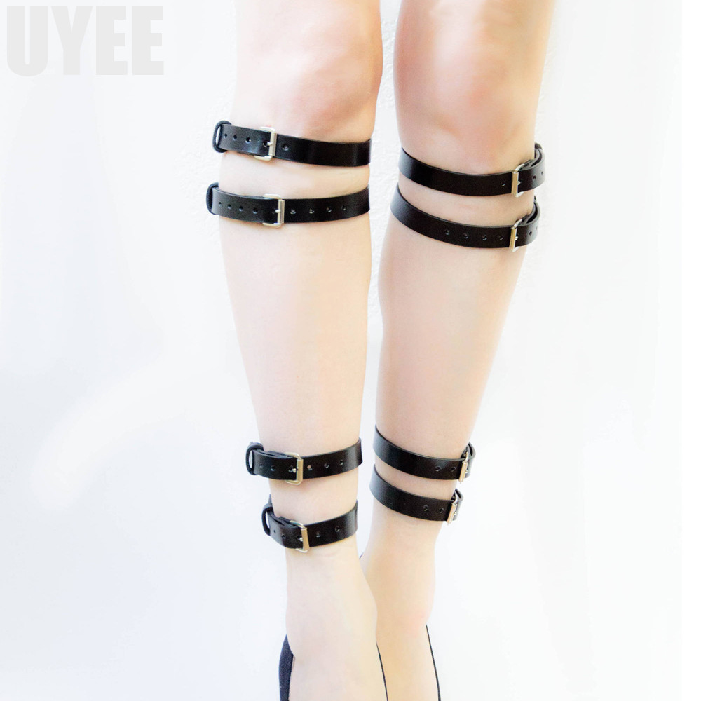 Apparel Accessories Uyee Leg Bondage Sexy Garter Belt For Women Stocking Adjustable Genuine Pu Leather Harness Gothic Tactical Belts Bondage Lp-048 Good Reputation Over The World