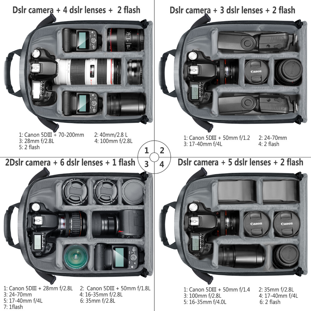 Battery and Other Accessories Camera Cases Mirrorless Camera Color : Green Flash Lens DSLR Camera Backpack Case Waterproof Shockproof Partition Protection Backpack Camera Bag for SLR