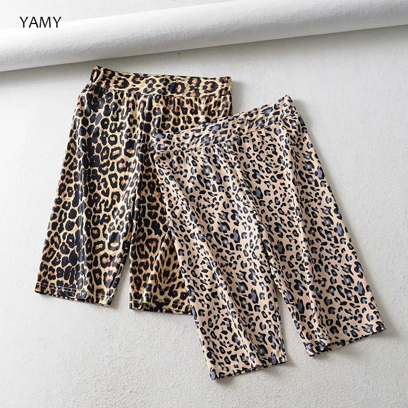 Leopard print Womens Biker   Shorts   high waist quick dry skinny casual   Shorts   Streetwear top quality cotton Biker   Shorts   gym