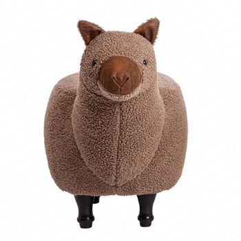 Solid wood shoes stool creative shoes stool removable and washable animal seat stool designer sofa stool