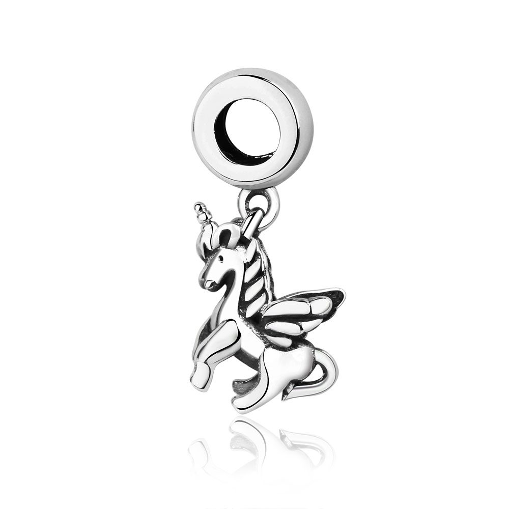 Fits original pandora charms Bracelet 925 Sterling silver Antique animal horse Dangle Charm Beads Gifts DIY Jewelry Making 2018