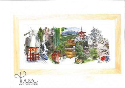 Gold Collection Counted Cross Stitch Kit Tokyo Famous City Series Japan tg 548