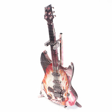 Golden 3D metal puzzle electric guitar color puzzle children diy toy model assembly kit learning  collection educational toys cool red devil warrior big scorpion behemoth monster 3d metal puzzle diy assembly model kit toys for children gifts
