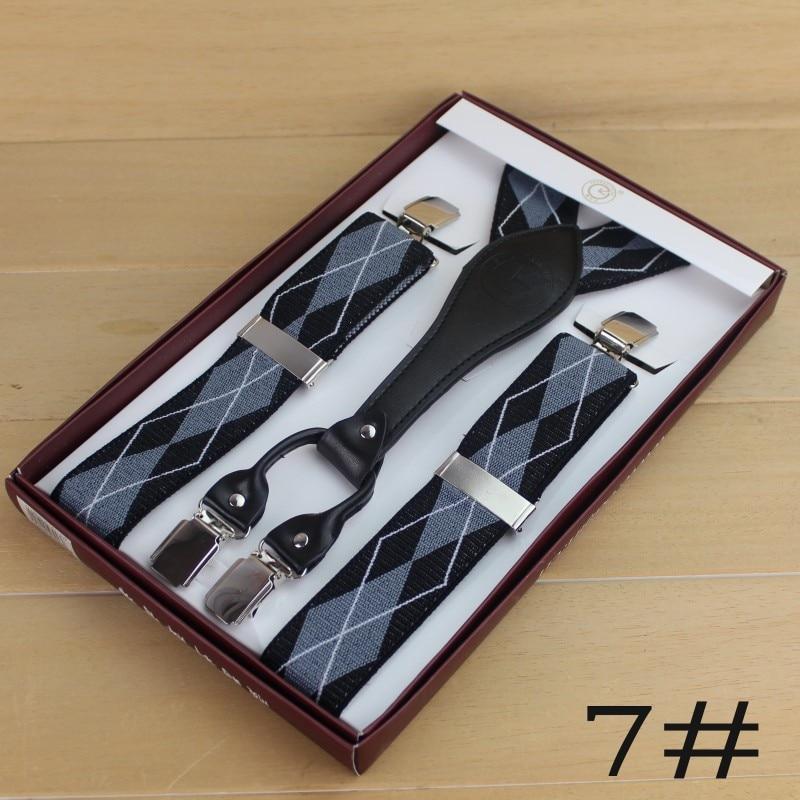 Мужские подтяжки с 4 зажимами мужские подтяжки - Цвет: 7