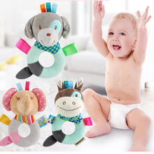 Funny Baby Rattles Infants Kids Animal Soft Plush Baby Hand Bells Exercise the brain Educational Doll Toy  n# dropship