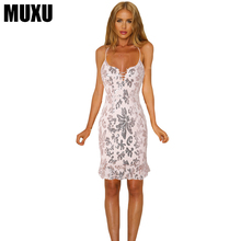 MUXU sexy summer vestidos mujer glitter gold sequin dress fashionable dresses womens clothing suspender free shiping 2018