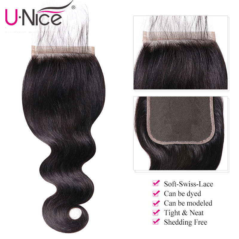 Image 3 - UNICE Hair Body Wave Bundles With 5X5 Closure Brazilian Hair Weave 3 Bundles With Closure 100% Human Hair Bundles 4PCS-in 3/4 Bundles with Closure from Hair Extensions & Wigs