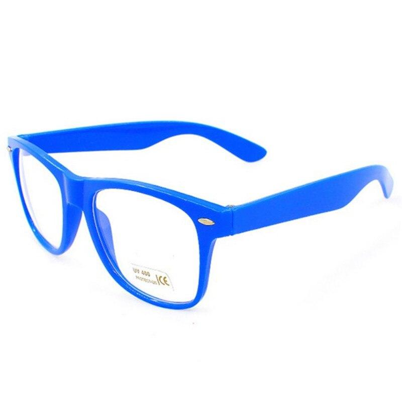 7bcb454d3c Montura de gafas de 9 colores de 2017 montura de gafas de moda Unisex para  hombre y mujer montura de gafas transparentes marco cuadrado en De los  hombres ...