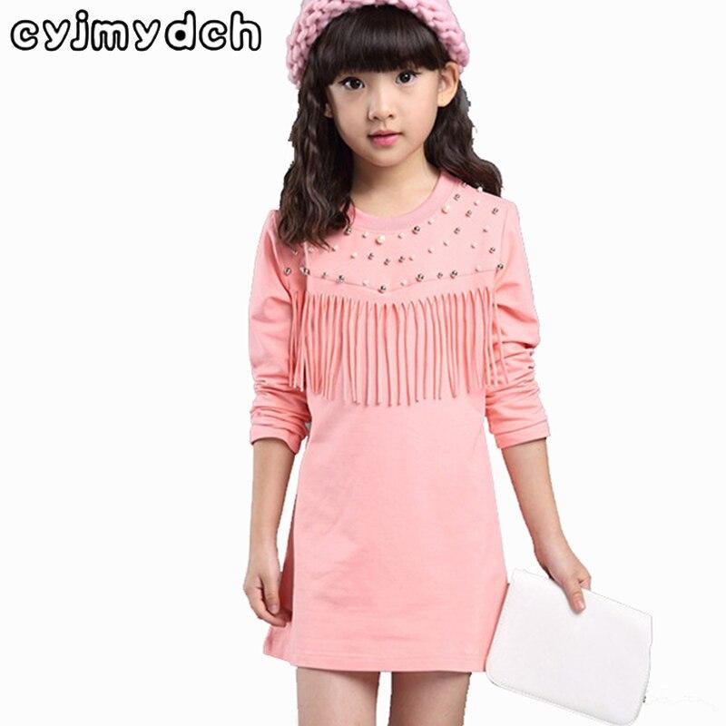 Mode süße Herbst Baumwolle Langarm Mädchen T-Shirts 100-160cm Kinderbekleidung Elastizität Basis Shirts Baby-Kleidung