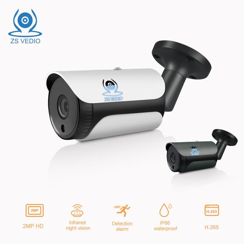 ZSVEDIO H.264 48v POE 720P 960P 1080P IP Camera Low Stream UHD CCTV Cam Waterproof Outdoor Surveilence Monitor Security