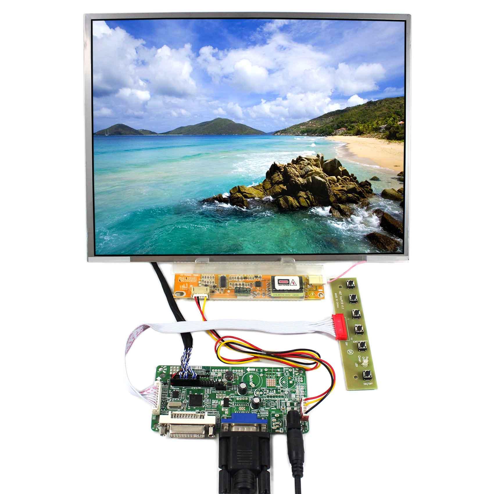 DVI+VGA LCD Controller Board With 12.1inch LTN121XT HT121X01 N121X5 1024x768 LCD ScreenDVI+VGA LCD Controller Board With 12.1inch LTN121XT HT121X01 N121X5 1024x768 LCD Screen