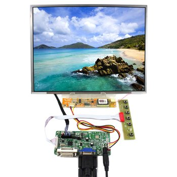 DVI+VGA LCD Controller Board With 12.1inch LTN121XT HT121X01 N121X5 1024x768 LCD Screen