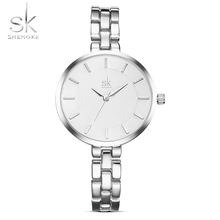 SK New Simple Women Bracelet Wrist Watches Light Extravagant Girls Fashion Geneva Quartz Clock Female Luxury Wristwatch 2017