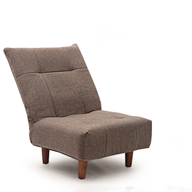 Modern Upholstered Furniture Chair Japanese Single Sofa Armless Recliner Living Room Occasional Accent Foldable