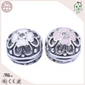 Best Selling New Design 100% 925 Sterling Silver esmalte Lotus charme clipe