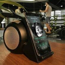 Rapide De Charge Qi Chargeur Sans Fil avec bluetooth haut-parleur Pour Samsung Galaxy S6 S6 Bord S7 S7 Bord Note 7 Téléphone adaptateur