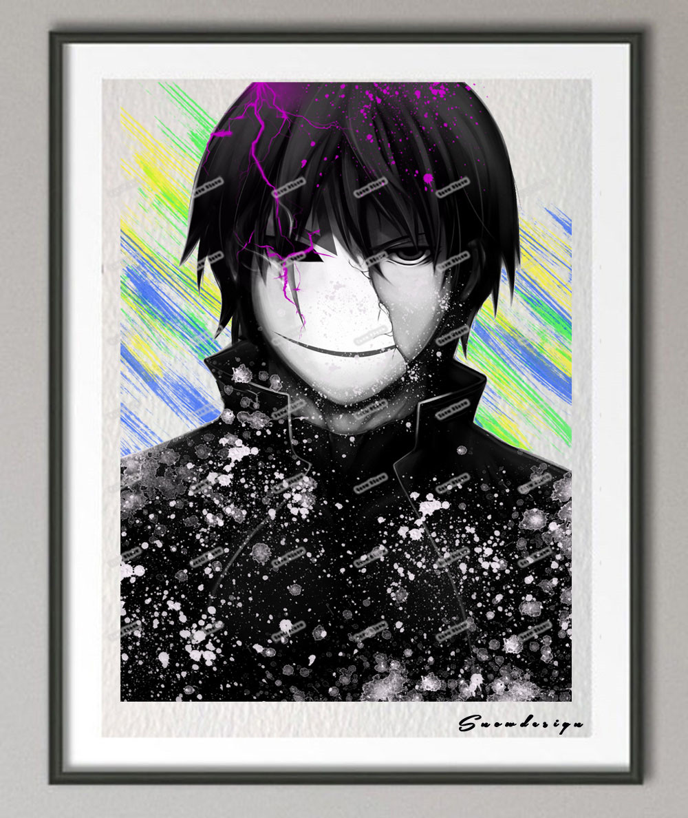 Diy original watercolor darker than black canvas painting anime manga wall art poster prints pictures for living room home decor