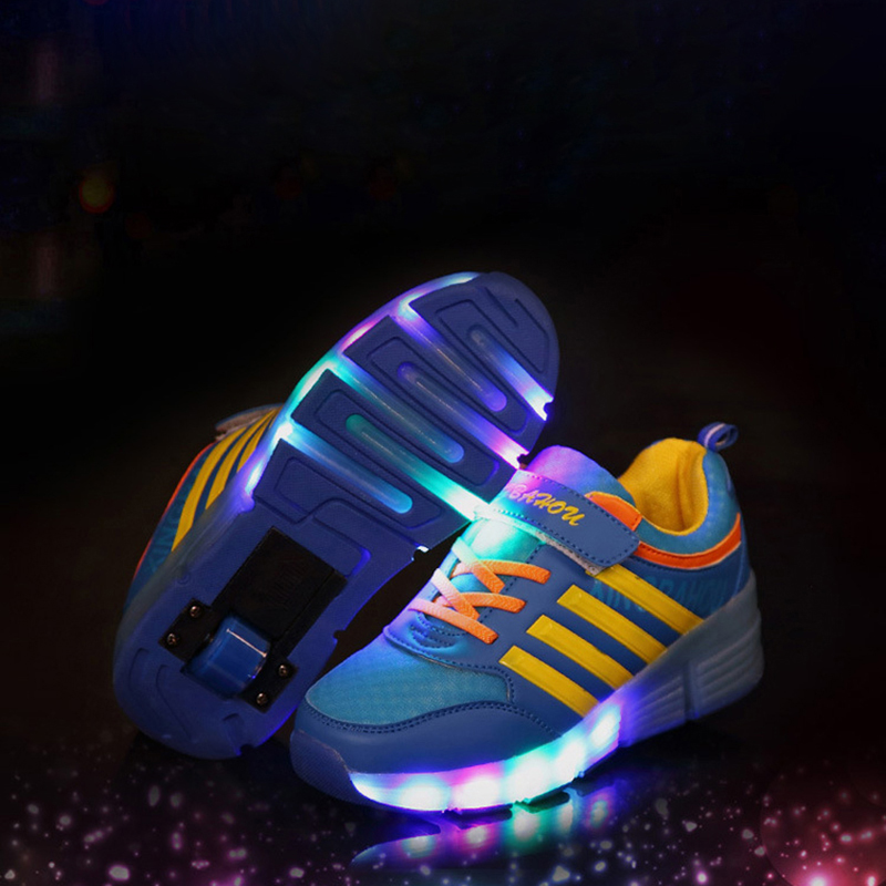 Casual Kids Roller Skate Shoes Children Light up Shoes Glowing Girls Boys Sneakers with Wheels men Summer Style tenis infantil