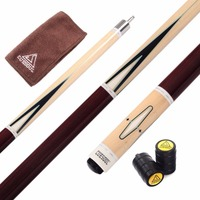 CUESOUL 57'' 20OZ Pool Cue Sticks 13mm Tip Full A+++ Canadian Maple Wood Billiard Cue with Clean Towel,Free Shipping