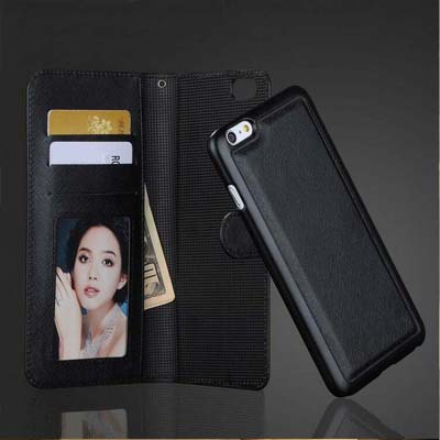 Для iPhone 7/плюс чехол бумажник 7 Plus 2 в 1 premium Магнитный ТПУ задняя крышка сальто PU кожаный чехол Съемный кошелек