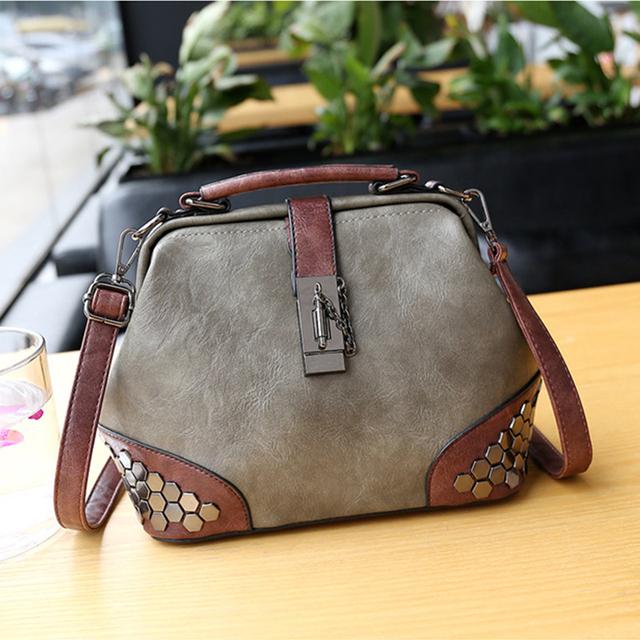 Women Leather Small Doctor Handbag