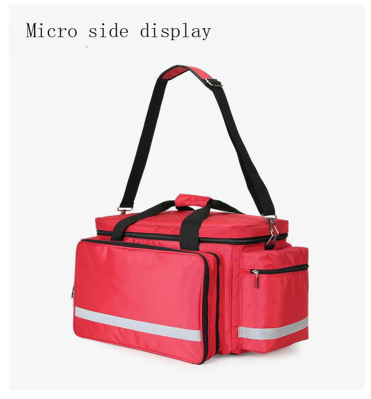 Image 3 - Outdoor First Aid Kit Outdoor Sports Red Nylon Waterproof Cross Messenger Bag Family Travel Emergency Medical Bag DJJB020-in Emergency Kits from Security & Protection