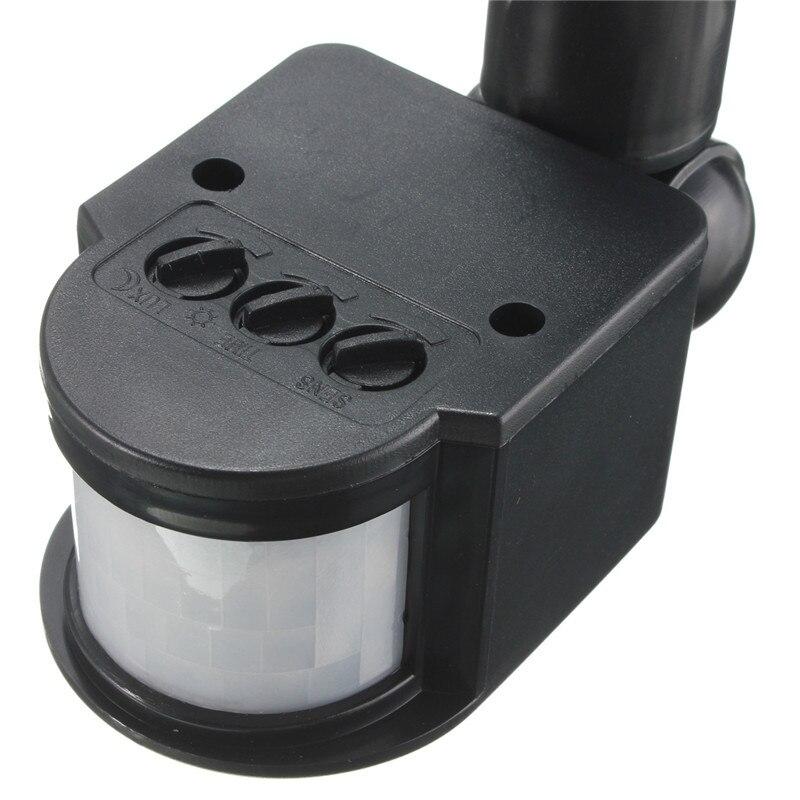 Motion sensor 220v 12v wall light lamp led pir infrared motion for Exterior motion sensor light switch