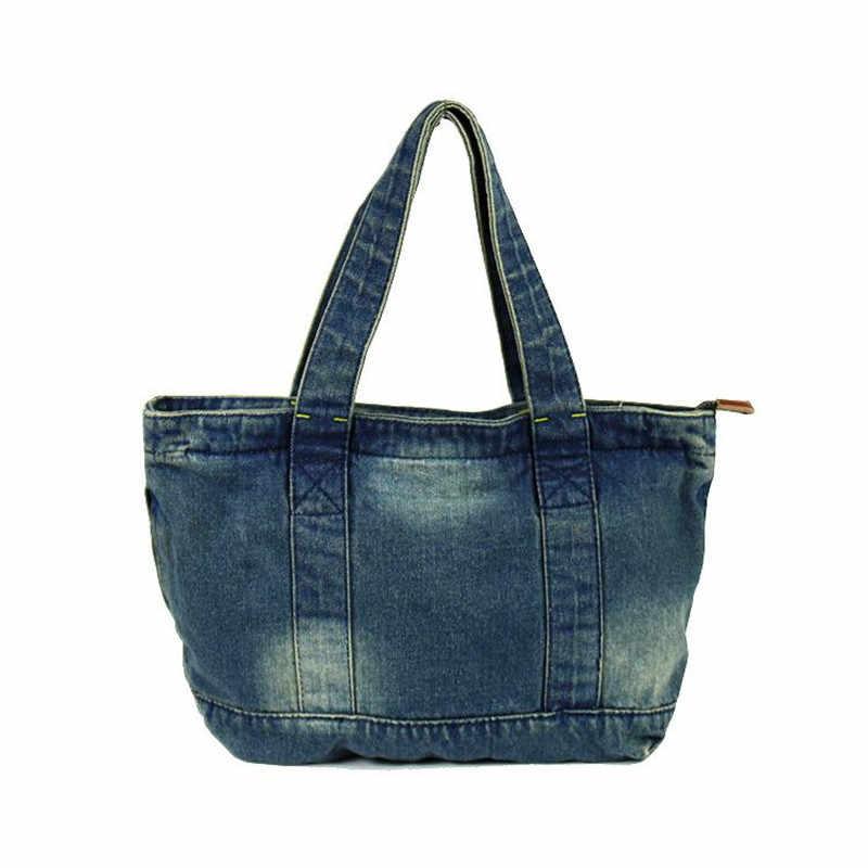 Bolso kiple casual denim sacos de brim feminino sacos de mão design feminino alta capacidade tote bolsa feminina casualmente combinado sacos