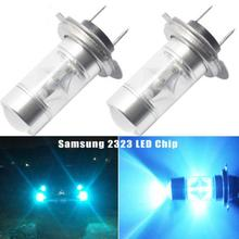 Стрекоза H7 50 Вт 20 светодиодный противотуманный фонарь для вождения автомобиля головной свет лампы высокой мощности ледяной голубой свет DRL лампы