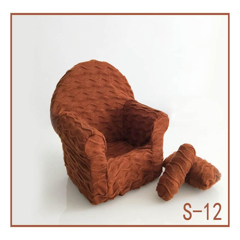 Реквизит для фотосъемки новорожденных, позирующий мини-диван, кресло на руку и 2 подушки, реквизит для фотосессии, студийные аксессуары для детей 0-3 месяцев - Цвет: 11