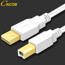 CNCOB USB Printer Cable Type B Male to A 2.0 for Canon Epson HP ZJiang Label DAC