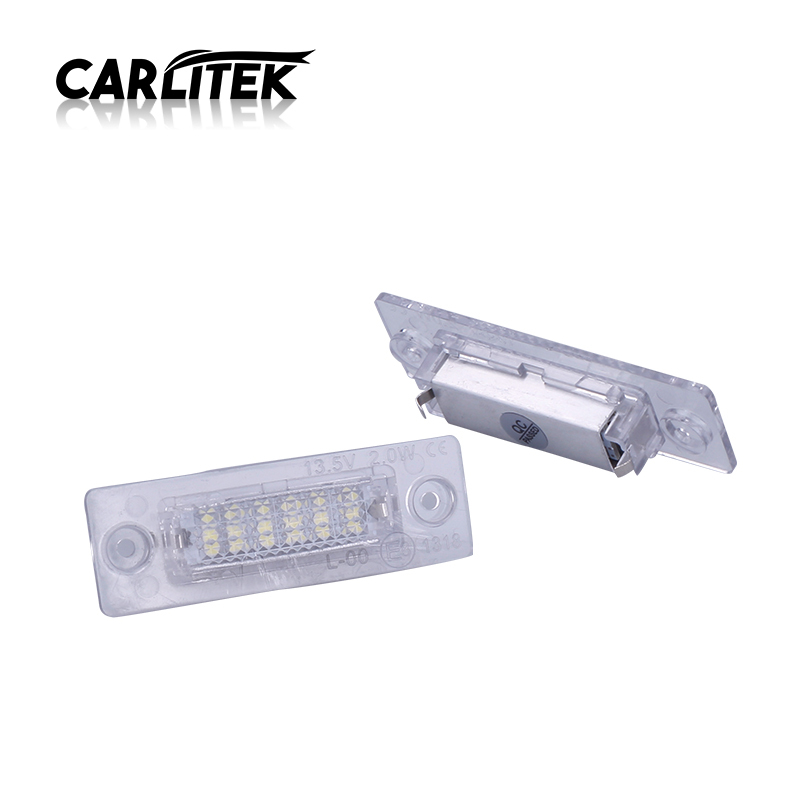 CARLitek Car Tail <font><b>Light</b></font> Led Number License Plate Lamp For <font><b>vw</b></font> passat Caddy <font><b>MK3</b></font> <font><b>Golf</b></font> Piug Jetta MK5 For Touran Transporter T5 image