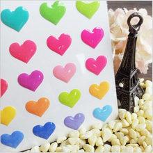 Romântico 3d cocktail coração design jelly estilo cola epoxy adesivo/diy multifunções deco adesivos escritório escola suprimentos g028