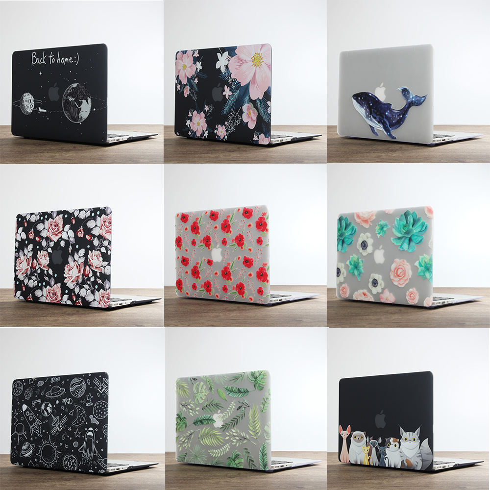 2019 New For MacBook Cover Laptop Case For Apple Macbook Air Pro Retina 11 12 13 13 MacBook 13.3 Inches With Keyboard Shell Tape