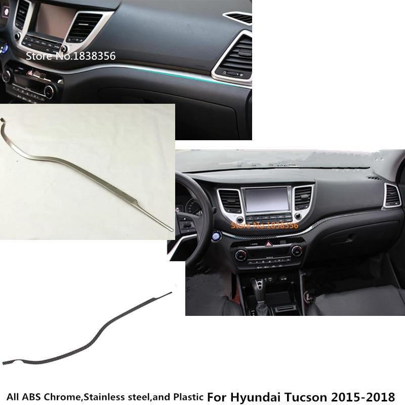 Top qualité pour Hyundai Tucson 2015 2016 2017 2018 voiture boîte à gants couvercle détecteur garniture console centrale contrôle tableau de bord panneau 1