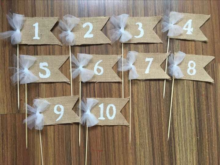 New romantic white lace bow table numbers bridal shower