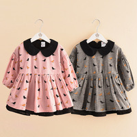 2016 Baby Girl Spring Autumn Dress Children Long Sleeve Cute Clothes Kids Casual Cotton Clothing Princess