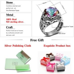 Image 5 - Szjinao Luxury Men Ring Real 925 Sterling Silver Rings For Women Gemstones Unisex Vintage Mens Jewellery Handmade Fine Jewelry