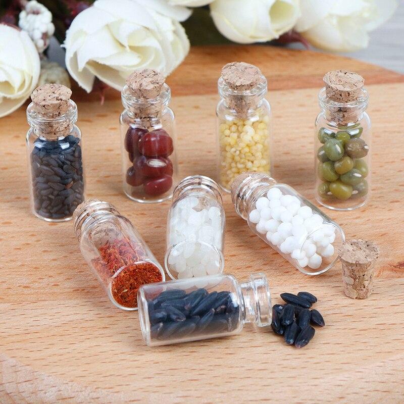 Glass Jars 4pcs Dollhouse miniature 1:12  KITCHEN food