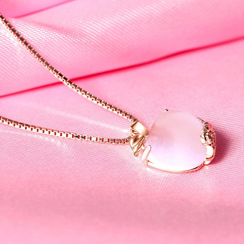 YWM Pink Apple Pendant 925 ստերլինգ արծաթե - Նուրբ զարդեր - Լուսանկար 3