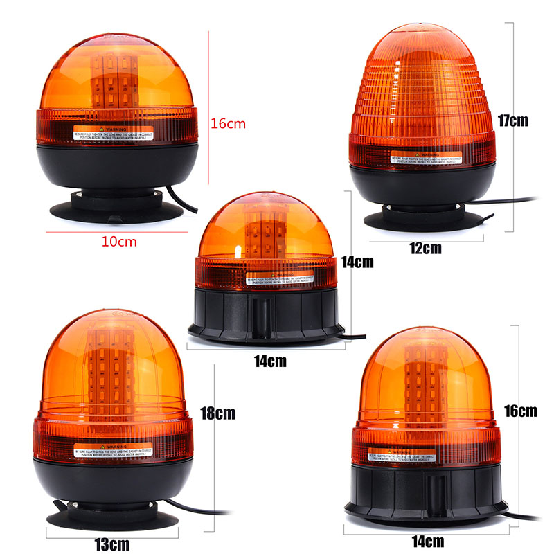 LED Car Signal Lamp Flashing Strobe Beacon Emergency Warning Light Car Auto Amber Lamp Yellow Lighting 12-24V Mul Size auto car solar power led warning tail light shark fin antenna style emergency alarm auto security lighting