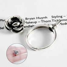 2019 New 925 Silver Rose Ring Adjustable Women Outdoor Survival Hidden Safety Tools Weapon Self Defense EDC Rings