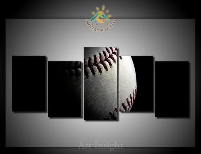 Wonderful 5 Pieces/set Baseball Canvas Wall Art Paintings Picture Print On Canvas For  Home Decoration