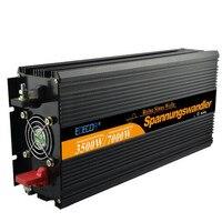 Бесплатная доставка EDECOA Чистая синусоида Инвертор 3500 Вт 24 В до 230 В 7000 Вт пиковая мощность Солнечный преобразователь вне сети с удаленным